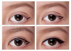Easy way to do eye liner.