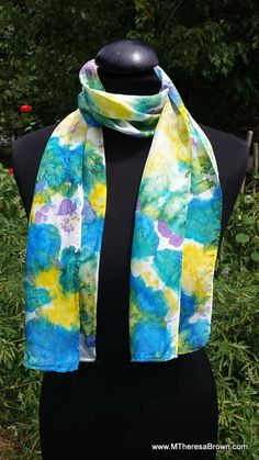 Beautifully patterned silk scarf.