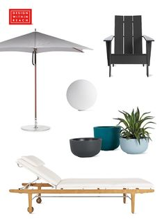On now: Annual Outdoor Sale at Design Within Reach. Save 15% on select furniture, lighting and accessories for festive outdoor living. Sale dates: May 18–June 22, 2017