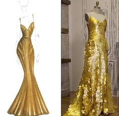 Stunning $1,500,000 gold dress to debut at the MTV Movie Awards