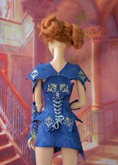 https://flic.kr/p/vnGKLt | Leather armor corset for bjd doll.