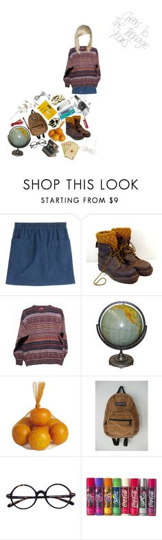 """shadow preachers"" by killjoymachine ❤ liked on Polyvore featuring A.P.C., Polaroid, Pier 1 Imports, JanSport and La Perla"