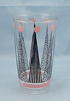 Hazel Atlas - 1950's Pink & Black Tumbler. Click on the image for more information.