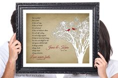 Hey, I found this really awesome Etsy listing at https://www.etsy.com/listing/191691717/love-never-fails-birds-personalized