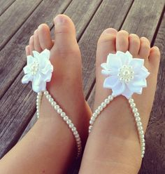 Baby barefoot sandals , baby girl, baby shoes ,baby jewelry ,baptism ,christening gift, baby shower gift ,baby anklet