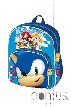 Mochila Infantil Sonic Jogo Escolar Masculina Feminina
