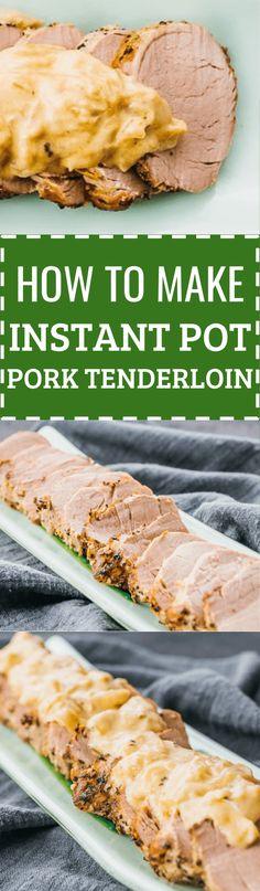 Instant pot pork tenderloin with Dijon mustard sauce