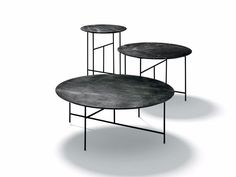 Round coffee table SEN by DE PADOVA design Kensaku Oshiro