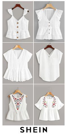 New Fashion Experience - Shop Affordable Blouses Source by SHEINofficial - Indian Fashion Dresses, Girls Fashion Clothes, Teen Fashion Outfits, Fancy Tops, Trendy Tops, Crop Top Outfits, Cute Casual Outfits, Blouse Styles, Blouse Designs