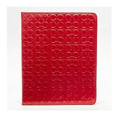 julia embossed patent tablet by coach $198