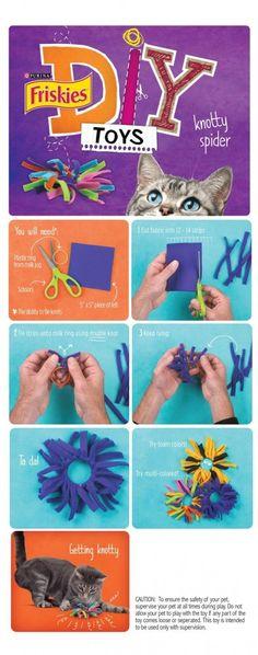 Op internet vind je de leukste dingen voor je katten. Ik kwam deze vijf DIY's tegen om kattenspeeltjes te maken en ik moest ze even delen! Het is niet moeilijk om te maken en het lijkt mij super leuk (al moet je er wel een beetje tijd voor over hebben. ;-) ) Heb jij wel...