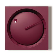 'hola clock - red' from lemnos