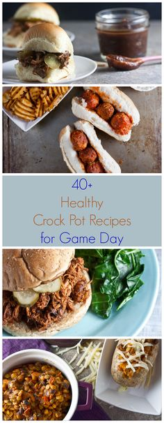 40+ Healthy Crock Pot Recipes for Game Day