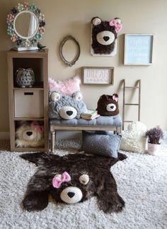 Nursery Rug Faux Bear Woodland Baby By Claraloo Rugs