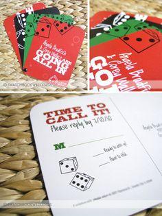 casino wedding paperie