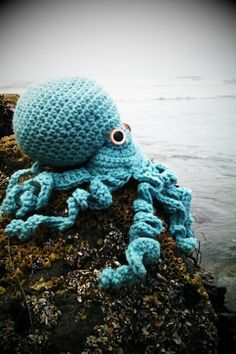 Crocheted Amigurumi Octopus large by CreatedWithaHook on Etsy