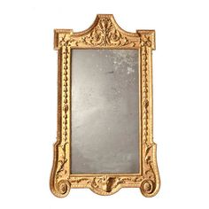 Rare and unusual Neoclassical gilded mirror, England c. 1775