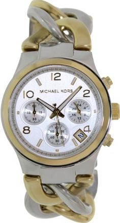 Michael Kors Twist Chain Chronograph White Dial Ladies Watch MK3199  http://dedeuhren.com/michael-kors-twist-chain-chronograph-white-dial-ladies-watch-mk3199/