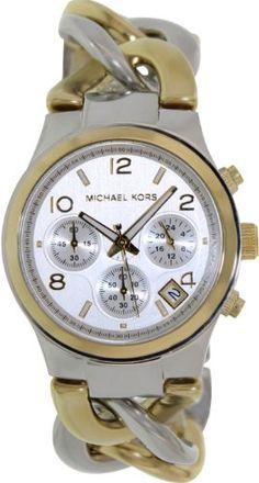 Michael Kors Twist Chain Chronograph White Dial Ladies Watch MK3199  http://dedeuhren.com/michael-kors-twist-chain-chronograph-white-dial-ladies-watch-mk3199/