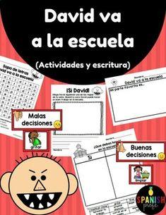 David Goes to School in Spanish (David va a la escuela) by Spanish Profe