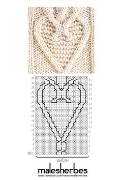 Knit pattern special valentine
