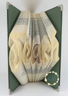 Book Folding Pattern For The Word Teach by PatternsByDaisyKay