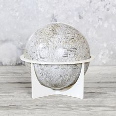"Lunar Moon Globe vintage, gray, lackluster co.  Alternate guest book - ""I love you to the moon and back"""