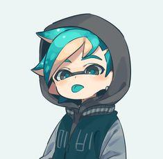 Splatoon Squid, Splatoon Memes, Splatoon 2 Art, Splatoon Comics, Game Character Design, Character Art, Nagisa Shiota, Cute Games, Cartoon Art