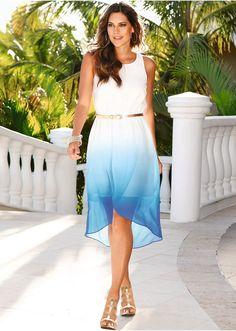 Vestido branco/azul-escuro - Moda Feminina - bonprix.de