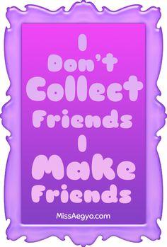 MissAegyo.com I don't collect friends, I make friends.