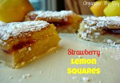 Organizer By Day: Strawberry Lemon Squares @Elie from Organizer By Day