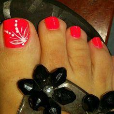 Zehennageldesign Best Summer Toe Nail Designs - DIY Cuteness Landscaping, An American Pass Time Arti Pretty Toe Nails, Cute Toe Nails, Fancy Nails, Diy Nails, Pretty Toes, Toenail Art Designs, Diy Nail Designs, Toe Nail Designs Summer, Pedicure Nail Art