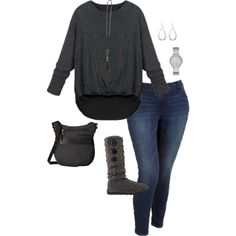 Plus Size Fall and Winter Outfit by jmc6115 on Polyvore featuring Old Navy, UGG Australia, Sherpani, Michael Kors and plussize