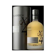 Le whisky Bruichladdich X4 + 3 ans est proposé dans un superbe flacon au design très contemporain est une série limitée