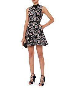 Self-Portrait Peony Floral Lace Flare Dress