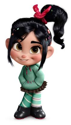 Vanellope von Schweetz - Sugar Rush racer - Wreck-it Ralph --anyone realize that her skrit is a reese's cup inside wraper?--