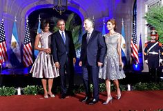 Michelle Obama and Argentina First Lady Juliana Awada at the State ...