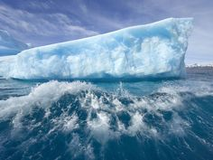 Massive Ice Berg larger than Manhattan broke away from the floating end of Greenland Glacier this week. Antarctica Iceberg, Glacier Bay Alaska, Chile, South Georgia Island, Georgia Islands, Costa, Mountain Photos, Sea And Ocean, Life Is An Adventure