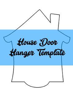 115 best door hanger templates images on pinterest door hanger