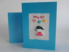 Geboortekaart 'Baby Girl' van FromHelloToGoodbye op Etsy