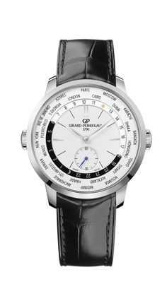 A model following the design spirit of the watches of the 1960s and a tribute to Girard-Perregaux's technical advances in the field of chronometry, crowned by the Neuchâtel Observatory Centenary Prize.