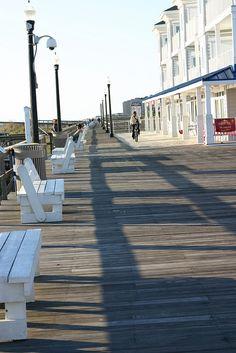 Early morning Bethany Beach boardwalk