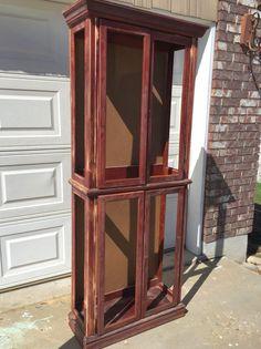 DIY Curio Turned Storage Cabinet
