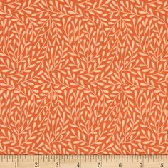 Cloud 9 Organic Morning Song Dancing Vines Orange from @fabricdotcom  Designed by Elizabeth Olwen for Cloud 9 Fabrics, organic cotton fabric is perfect for quilting, apparel and home decor accents. This certified 100% organic cotton print meets the GOTS certification; only low impact, organic dyes were used in this product. Colors include two shades of orange.