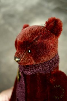 Gwendolyn, Artist Teddy Bear made in vintage mohair by Aerlinn Bears
