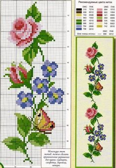 Discover thousands of images about ROSAS Butterfly Cross Stitch, Cross Stitch Rose, Cross Stitch Borders, Cross Stitch Flowers, Cross Stitch Charts, Cross Stitch Designs, Cross Stitching, Cross Stitch Embroidery, Embroidery Patterns