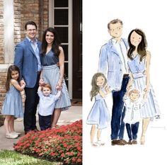Image of CUSTOM WATERCOLOR PORTRAITS - WAIT TIME 3 MONTHS