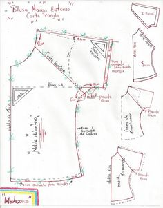 raglan cut blouse pattern - Best Sewing Tips Dress Sewing Patterns, Blouse Patterns, Sewing Patterns Free, Clothing Patterns, Blouse Pattern Free, Skirt Patterns, Coat Patterns, Free Pattern, Sewing Hacks