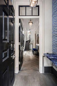 Синий цвет в дизайне исторического таунхауса в Нью-Йорке | Пуфик - блог о дизайне интерьера