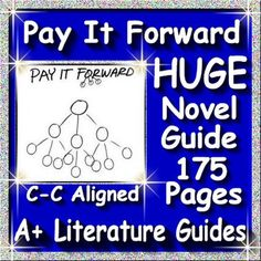 Pay it Forward a complete 175 page Common-Core aligned Novel Guide for the Young Readers Edition by Catherine Ryan Hyde. Chapter questions and answers, daily activities, weekly quizzes, final test, interactive activities, writing assignments and so much more! Just print and go!